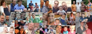 Some of the families Men Having Babies has helped through the Living the New Normal program (Facebook)