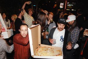 Wait, there was pizza? (photo credit: Patrick McMullan)