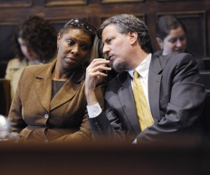 Ms. James with Mr. de Blasio when they both served in the City Council. (Photo: Marc A. Hermann-Pool/Getty Images)