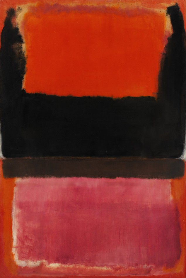 Mark Rothko, No. 21 (Red, Brown, Black and Orange), signed and dated 1953 on the reverse. (Courtesy Sotheby's New York)