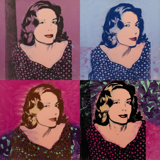 Andy Warhol, A Group of Four Portraits of São Schlumberger, 1974, Est. $2/3 million. (Courtesy Sotheby's New York)