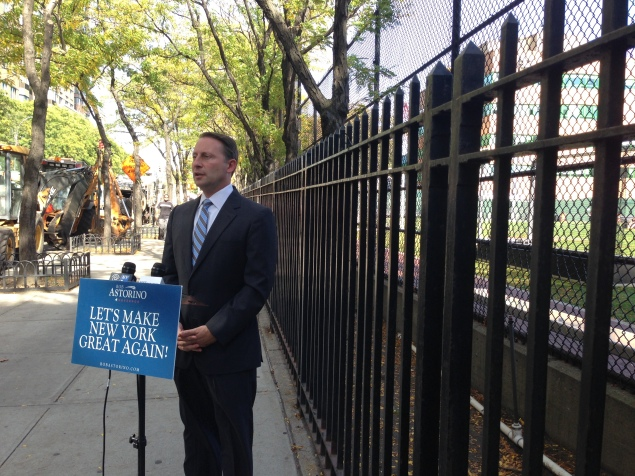 Rob Astorino at the site of a planned waste transfer station. (Photo: Jillian Jorgensen)