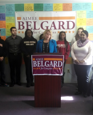 Belgard at a campaign office in Willingboro during her unsuccessful CD3 bid.