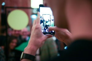 A phone taking pictures of phones taking pictures. (Photo courtesy BFA)