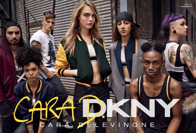 Cara and crew in Bushwick.  (Photo via DKNY)