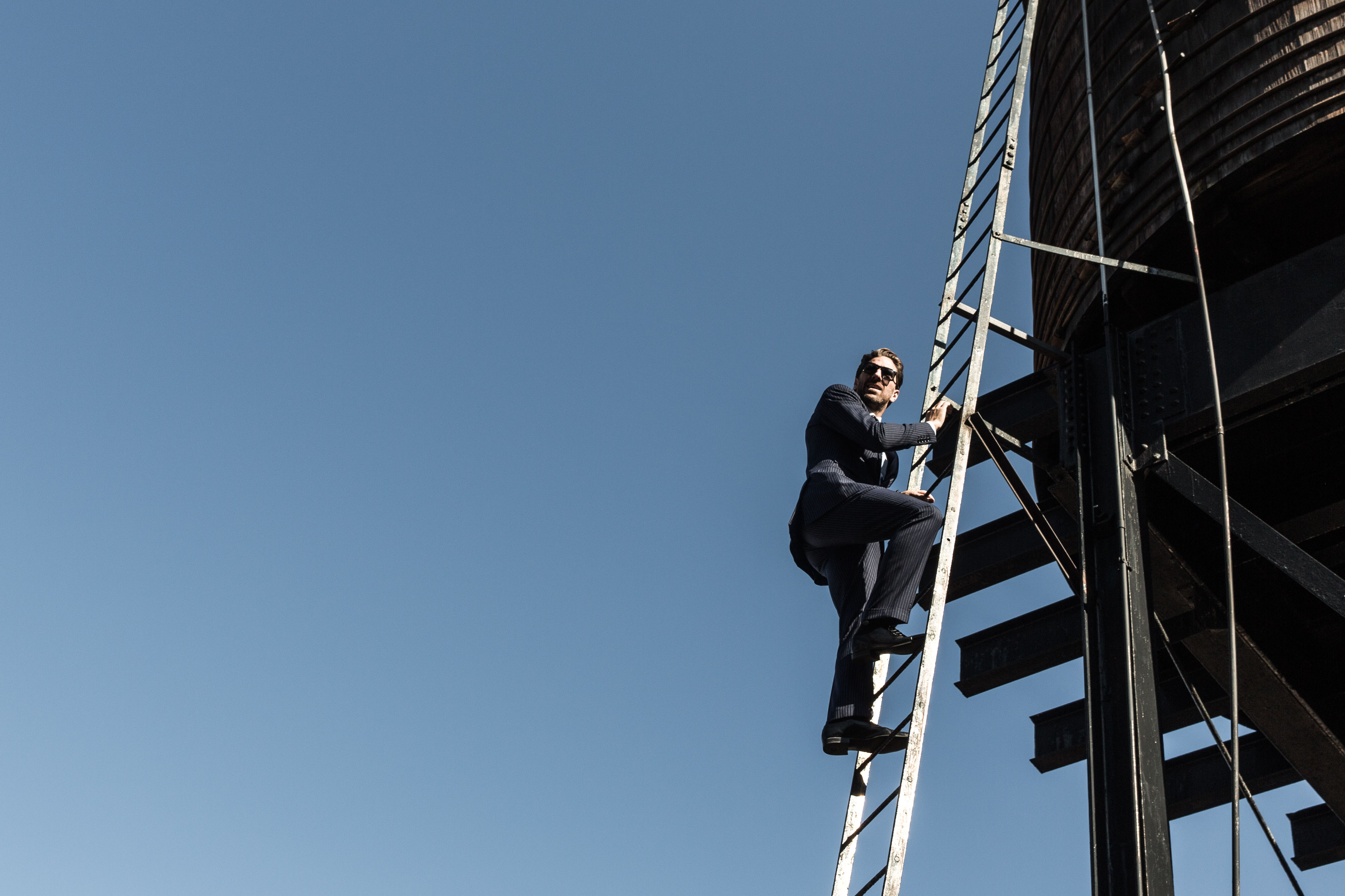 Want to climb a water tower? Sure, why not. (It's good to be king.)