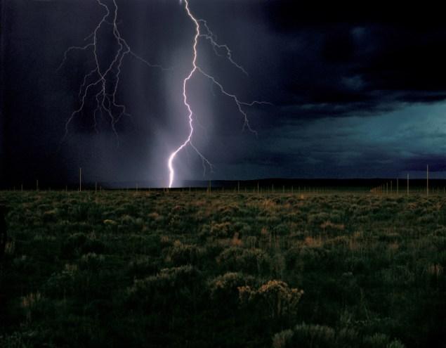 Walter De Maria's The Lightning Field (Courtesy Dia Art Foundation)
