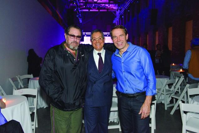 Julian Schnabel, Jeffrey Deitch and Jeff Koons. (Photo by Kristy Leibowitz)