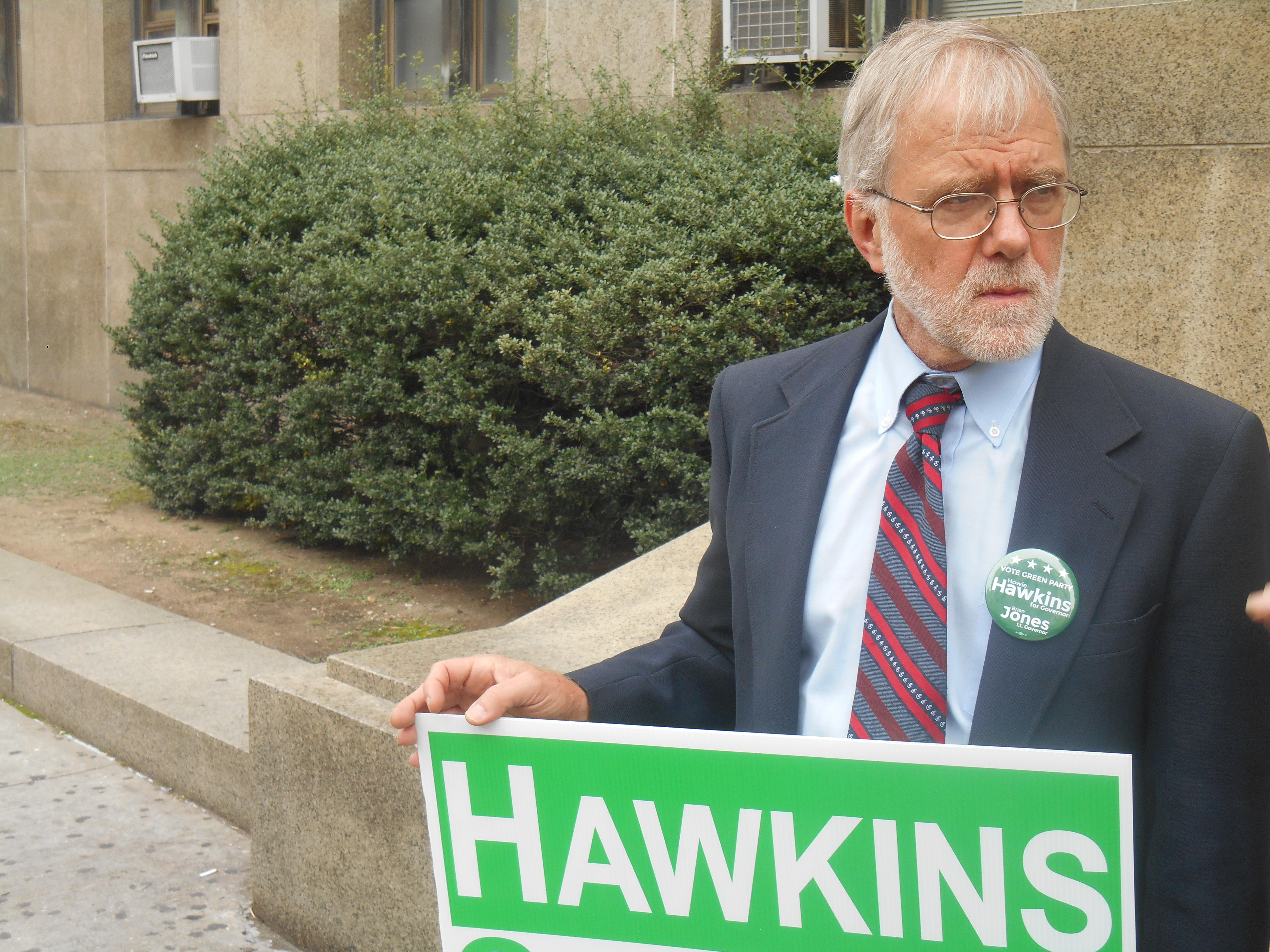 Howie Hawkins today. (Photo: Ross Barkan)