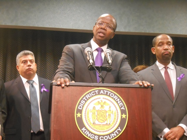 Brooklyn District Attorney Ken Thompson today. (Photo: Ross Barkan)