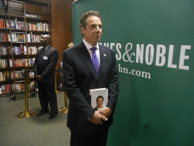 Gov. Andrew Cuomo at his book signing. (Photo: Ross Barkan)