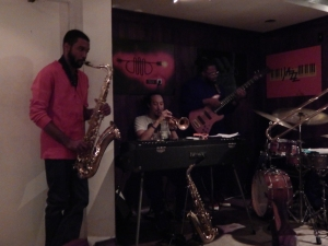 DVRK FUNK plays a relaxed set on a Thursday  night at the Whynot Jazz Room