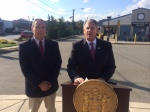 Eustace, left, with Bergen County Executive Jim Tedesco.