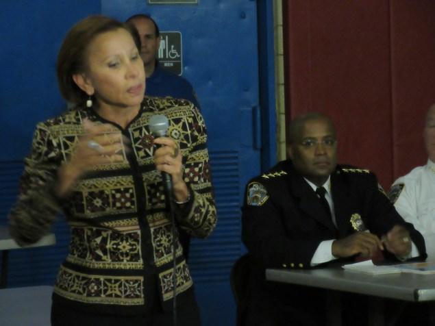 Nydia Velázquez excoriates Chief Philip Banks (Photo: Will Bredderman).