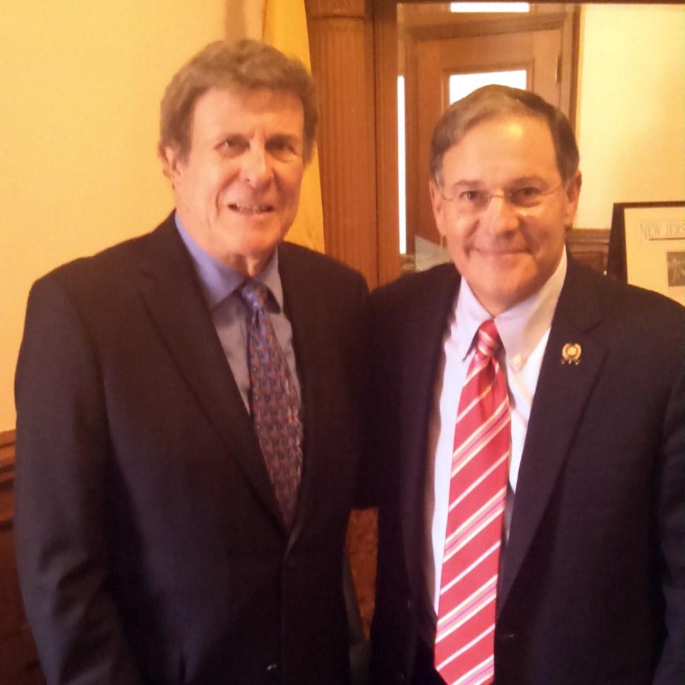 Cousin Brucie and Assemblyman Jon Bramnick.