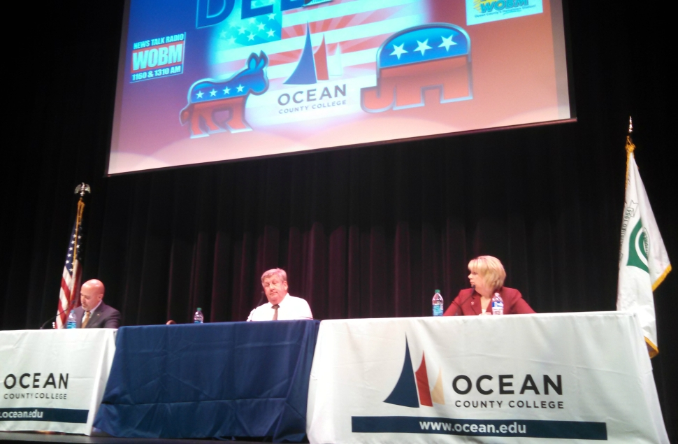 MacArthur, LaVergne, and Belgard at their third and final debate in Toms River (though it was actually only the first official debate LaVergne was invited to partake in).