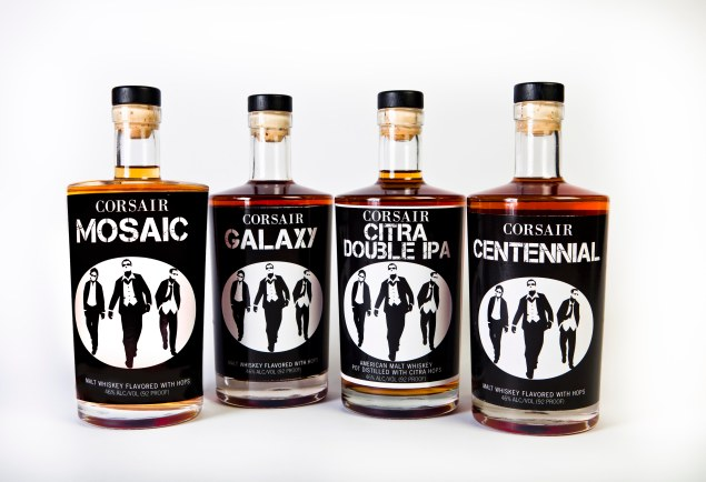 A few of Corsair's unexpected whiskeys.
