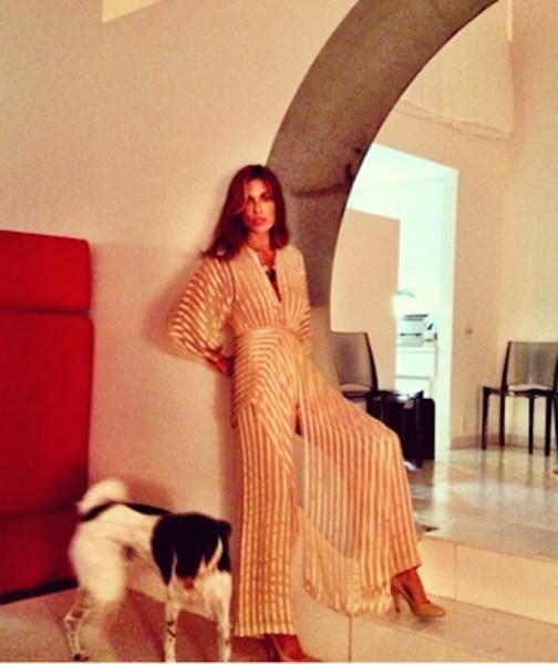 Kate Krone's vintage silk Halston jumpsuit.