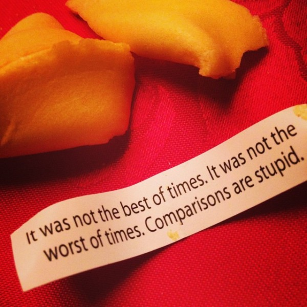 A Lynne Tillman in a fortune cookie. (Courtesy Laurie Simmons' Instagram)