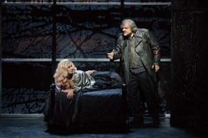 Anna Netrebko and Željko Lučić. (Photo by Marty Sohl/Metropolitan Opera)