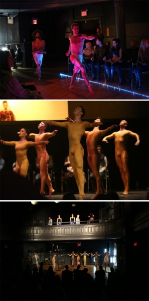 Performance stills from Meem: A Story Ballet About the Internet. (Courtesy Performa)