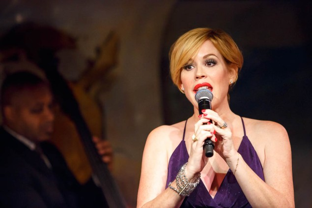 Molly Ringwald runs through a torturous set at the Café Carlyle. (Photo by Stephen Sorokoff)