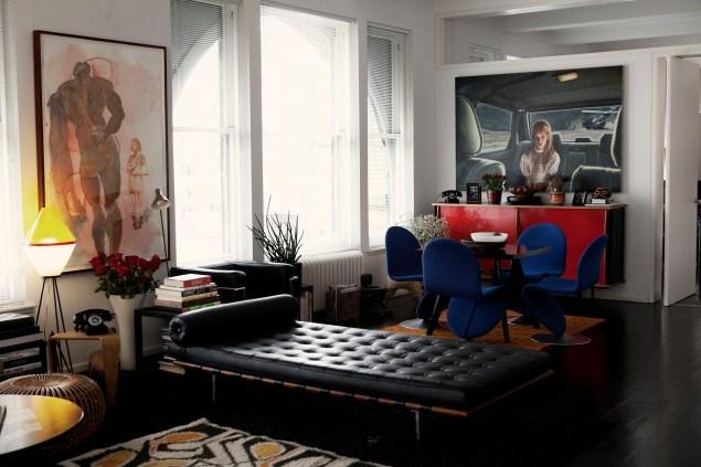 Ms. Miller's living space. (Photo by Celeste Sloman/New York Observer)