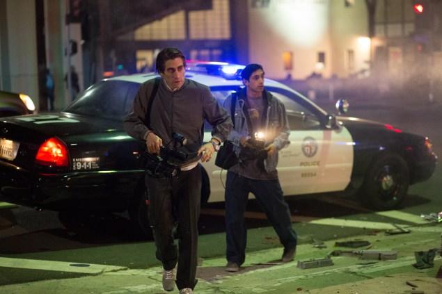 Jake Gyllenhaal, left, stars in Nightcrawler.