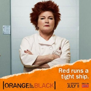 """The actress Kate Mulgrew earned an Emmy nomination for her portrayal of Galina """"Red"""" Reznikov, the tyrannical ruler of the kitchen on """"Orange is the New Black"""" (Photo: Netflix)"""