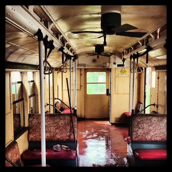 Inside of R6 Subway Car