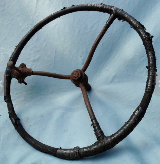 Antique steering wheel. (Photo via Etsy)