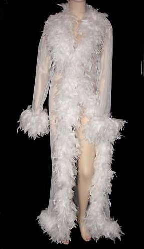 Marabou robe. (Screengrab via eBay)