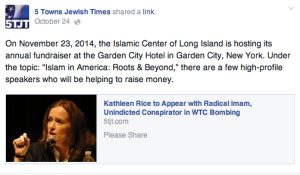 5 Towns Jewish Times links to their Observer linked article on Facebook.
