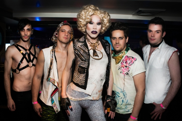 """Sharon Needles (center) at her Liberty Theater bash, """"Night of the Living Drag."""" (Photo by Patrick McMullan)"""