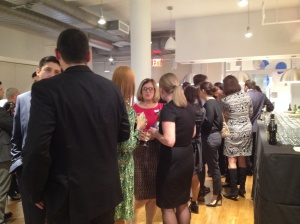 StreetEasy's new office celebrated with brokers and reporters last week.