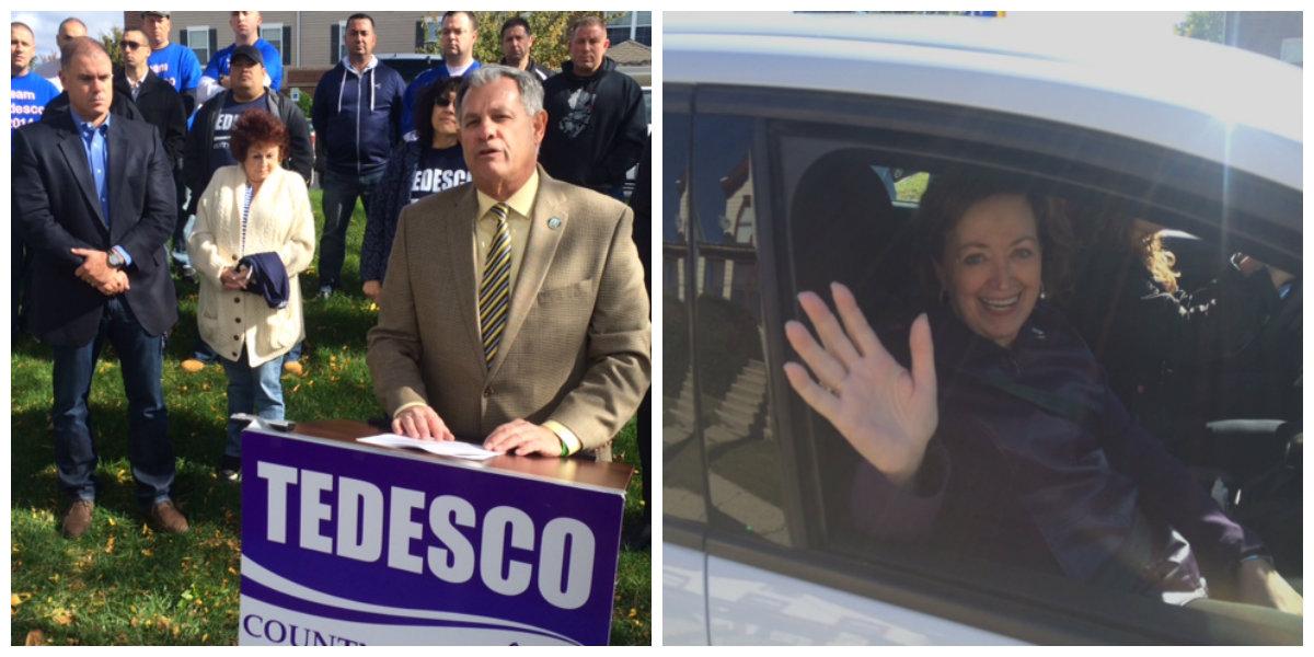 Last year, Democrat Tedesco unseated Republican County Executive Donovan.