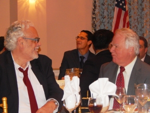 The Jersey Journal's Political Insider, left, with Weehawken Mayor Richard Turner.