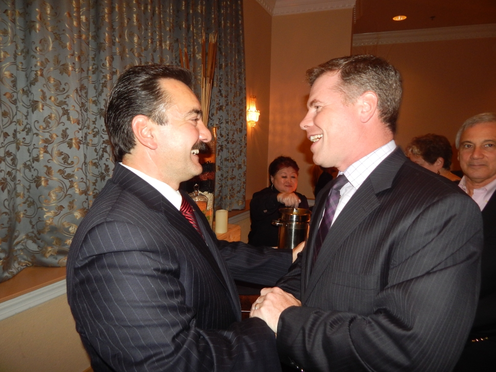 Prieto at his fundraiser with MWW insider Brian Hague.