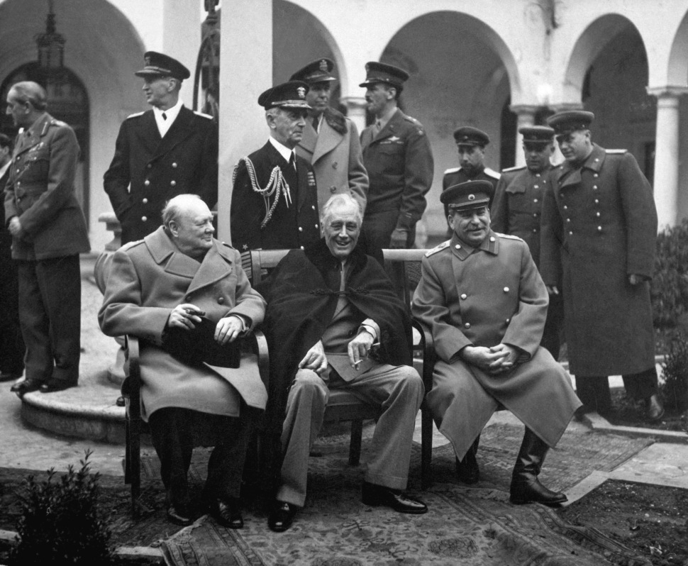 "One source staggering out of the Robert Treat Hotel last night had the audacity to liken a Hillary powwow to the Yalta Conference (pictured above). In the inimitable words of Kevin Costner in The Untouchables, ""Did it look anything like this?"""