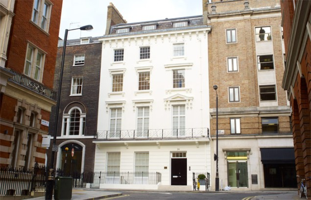 David Zwirner's outpost in London, in the posh Mayfair district. (Courtesy David Zwirner)