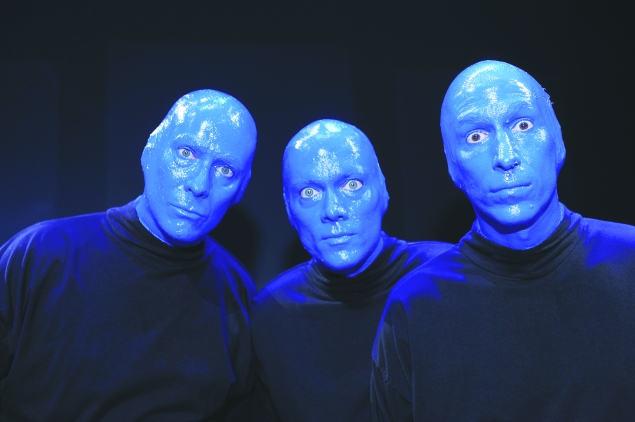 The Blue Man Group, whose Blue School opened in 2006. (Photo via Getty Images)
