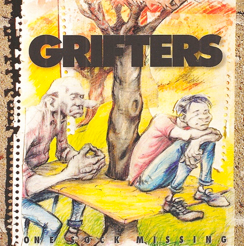 (The Grifters' second LP, One Sock Missing, released i 1993 on Shangri-La Records. Photo: The Grifters.)