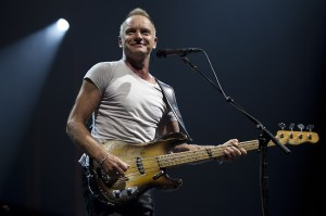 Sting at a 2012 concert. Photo by Paul Bergen /AFP/GettyImages