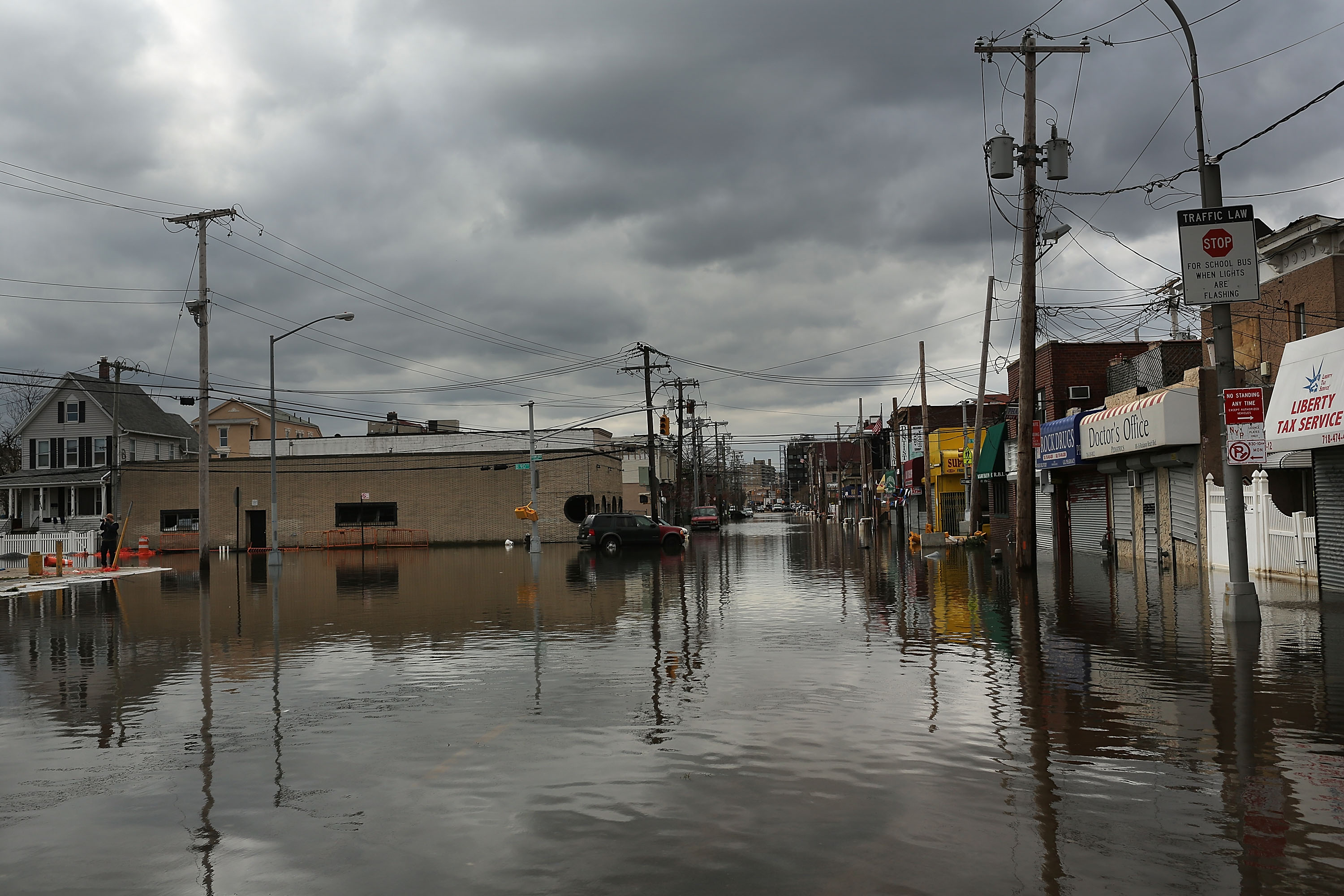 Flooding in Queens after Hurricane Sandy struck. (Photo: Spencer Platt/Getty Images)