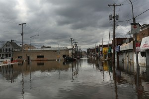 The floods after Hurricane Sandy could become routine if new global warmng projections play out. (Getty)