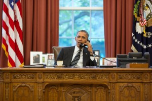 President Barack Obama . (Photo by Pete Souza/White House via Getty Images)