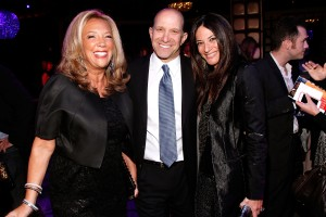 Pardon Me. Denise Rich greets Howard Lutnick and Allison Lutnick at Gabrielle's Angel Foundation Ball at Lavo on October 3, 2013.  (Photo by Brian Ach/Getty Images)