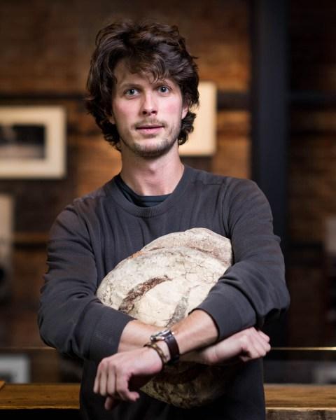 Mr. Dutko, with a loaf of poilâne. (Photo by Francesco Sapienza)