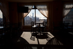 The 39th floor breakfast room, quite possibly the loveliest place to eat a complimentary continental breakfast in New York,(Michael Nagle/the Observer)