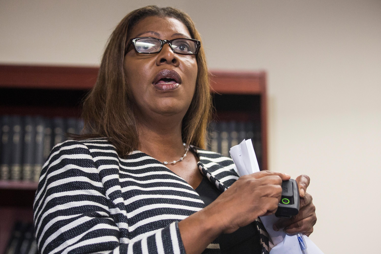 Public Advocate Letitia James. (Photo: Andrew Burton/Getty Images)